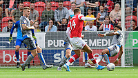 Rotherham United's Carlton Morris is fouled by Lincoln City's Bruno Andrade<br /> <br /> Photographer Chris Vaughan/CameraSport<br /> <br /> The EFL Sky Bet Championship - Rotherham United v Lincoln City - Saturday 10th August 2019 - New York Stadium - Rotherham<br /> <br /> World Copyright © 2019 CameraSport. All rights reserved. 43 Linden Ave. Countesthorpe. Leicester. England. LE8 5PG - Tel: +44 (0) 116 277 4147 - admin@camerasport.com - www.camerasport.com