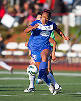 Boston Breakers midfielder Mariah Noguiera (20) controls the ball.  National Women's Soccer League Elite (NWSL) match, the Boston Breakers defeated  Chicago Red Stars 4-1, at the Dilboy Stadium on May 4, 2013.