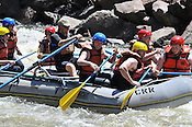 Colorado River Runs crashing Rodeo Rapid while running the Lower Eagle River, June 2, 2013, AM, Eagle, Colorado - WhiteWater-Pix | River Adventure Photography - by MADOGRAPHER Doug Mayhew