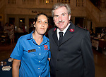 WATERBURY, CT-091318JS14--Greater Waterbury Salvation Army's  Operations Manager, Bri Pierscinski, left, and Executive Director, Major James Purvis, at the Arts and Army fundraiser for the Greater Waterbury Salvation Army held at the Palace Theater in Waterbury. <br /> Jim Shannon Republican American