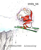 Fabrizio, Comics, CHRISTMAS SANTA, SNOWMAN, paintings, ITFZ06,#x# stickers Weihnachten, Navidad, illustrations, pinturas