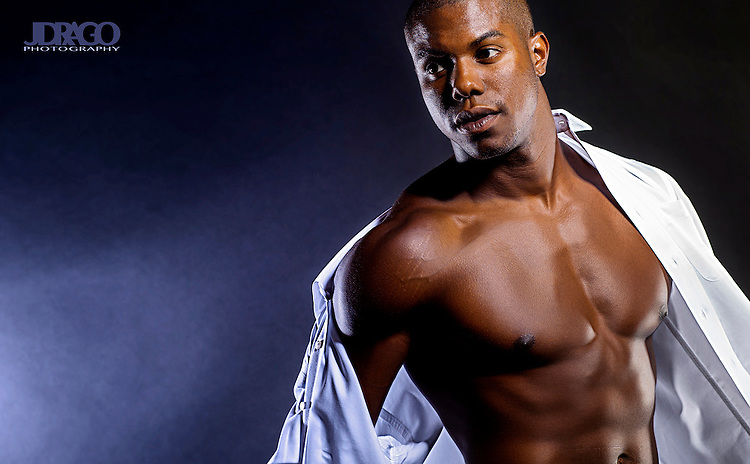 Justin Davis - Model in Southeast Texas for portfolio use and promotion shot in studio by JDrago Photography