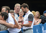 Wales Gethin Jones signs autographs for fans <br /> <br /> Golf - Day 1 - Celebrity Cup 2018 - Saturday 30th June 2018 - Celtic Manor Resort  - Newport<br /> <br /> &copy; www.sportingwales.com- PLEASE CREDIT IAN COOKCelebrity Cup 2018<br /> Celtic Manor Resort<br /> 30.06.18<br /> &copy;Steve Pope <br /> Fotowales