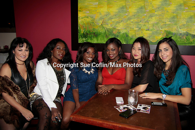 Samantha von Sperling - Maureen Martin - Delaina Dixon - Nicole Ferrell - Soo Kim - Wendy Gonzalez -  INAANTA Hair International Launch Party hosted by Diva Gals Daily on November 15, 2014 at El Cid, New York City, New York. It is a new high-end Remy Extension line. This party is to get a good look at luxury hair collection.  (Photo by Sue Coflin/Max Photos)