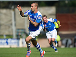 St Johnstone v Celtic....15.09.12      SPL  .Rowan Vine celebrates his goal that won the match for Saints.Picture by Graeme Hart..Copyright Perthshire Picture Agency.Tel: 01738 623350  Mobile: 07990 594431