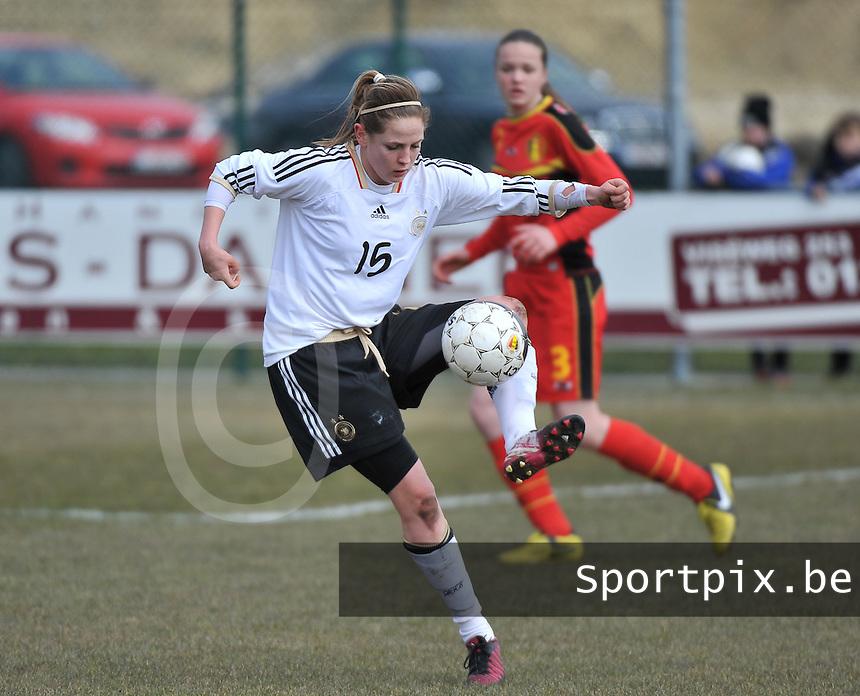 Belgie U17 - Duitsland U17 : Elisabeth Mayr.foto DAVID CATRY / Vrouwenteam.be