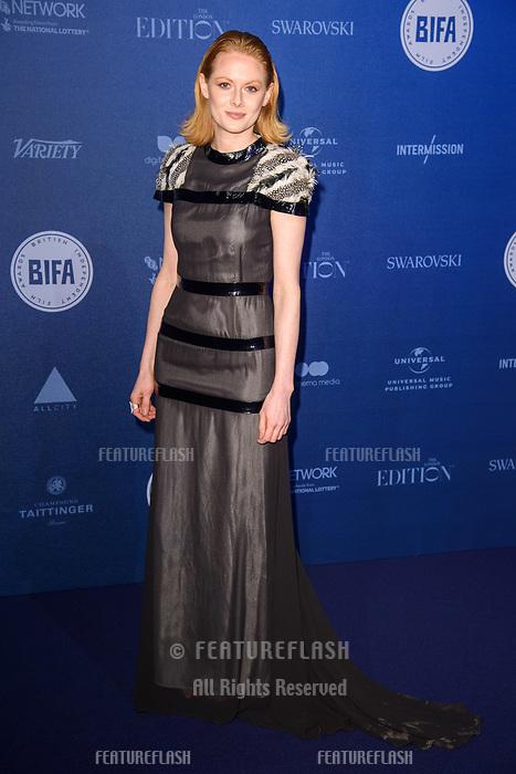 Emily Beecham at the British Independent Film Awards 2017 at Old Billingsgate, London, UK. <br /> 10 December  2017<br /> Picture: Steve Vas/Featureflash/SilverHub 0208 004 5359 sales@silverhubmedia.com
