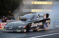 Jun. 1, 2012; Englishtown, NJ, USA: NHRA funny car driver Cruz Pedregon during qualifying for the Supernationals at Raceway Park. Mandatory Credit: Mark J. Rebilas-