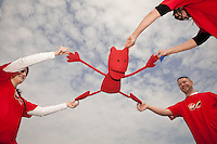 Virgin Media charity skydive