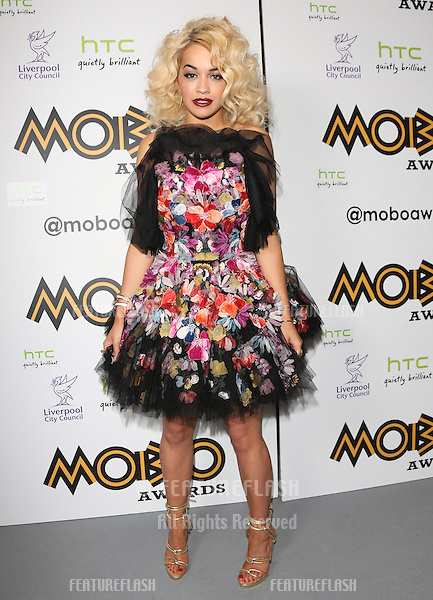 Rita Ora in the press room for The MOBO awards 2012 held at the Echo Arena, Liverpool. 03/11/2012 Picture by: Henry Harris / Featureflash