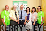 Pictured at the launch of Tralee International Marathon in the Brandon on Monday, from left: Donagh O'Mahoney (Radar Sports), Johnny Wall (Mayor), Pat Sullivan, Grace Creedon (Tralee Harriers), Mary Fitzmaurice (Tralee Harriers) and Una O'Mahoney (Radar Sports)..