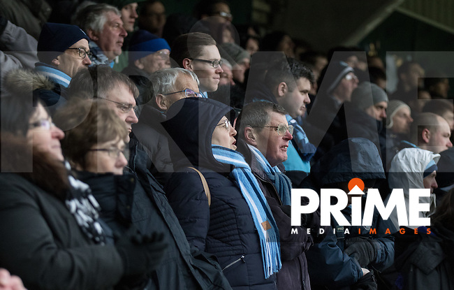 Wycombe supporters look on anxiously during the Sky Bet League 2 match between Wycombe Wanderers and Bristol Rovers at Adams Park, High Wycombe, England on 27 February 2016. Photo by Kevin Prescod.