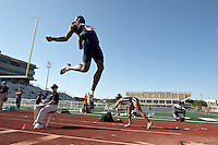 SAN ANTONIO, TX - MARCH 27, 2009: UTSA Relays Track & Field Meet - Day 1 at Jerry Comalander Stadium. (Photo by Jeff Huehn)