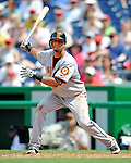 8 June 2008: San Francisco Giants' shortstop Emmanuel Burriss in action against the Washington Nationals at Nationals Park in Washington, DC. The Giants rallied to defeat the Nationals 6-3 in their third consecutive win of the 4-game series...Mandatory Photo Credit: Ed Wolfstein Photo