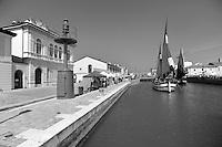 Italia, come si presenta la riviera romagnola quando termina la stagione turistica.