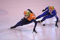 SCHAATSEN: DORDRECHT: 11-10-2015, Invitation Cup Shorttrack, Jorien ter Mors (#14), ©foto Martin de Jong