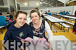 Leaving Cert students in Mounthawk School pictured on Wednesday, from left: twins Orla and Niamh Godley from Fenit.