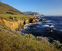 The PACIFIC waters of MONTEREY BAY meet the BIG SUR COASTLINE - CALIFORNIA..