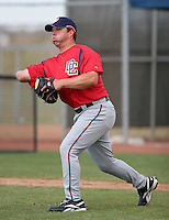 Washington Nationals minor leaguer Danny Ardoin during Spring Training at the Carl Barger Training Complex on March 19, 2007 in Melbourne, Florida.  (Mike Janes/Four Seam Images)