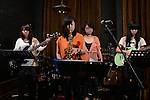 DC Stage, Kaohsiung -- The northern Taiwan based GIRL'S POWER JAZZ BAND performing live on stage.