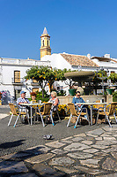 Plaza de Los Rosales, Estepona, Malaga, Spain, February, 2019, cafe, restaurant, 201902018375<br />