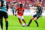 Der Mainzwie am Ball Abass Issa mit Herthas Fabian Lustenberger<br />  beim Spiel in der Fussball Bundesliga, 1. FSV Mainz 05 - Hertha BSC.<br /> <br /> Foto &copy; PIX-Sportfotos *** Foto ist honorarpflichtig! *** Auf Anfrage in hoeherer Qualitaet/Aufloesung. Belegexemplar erbeten. Veroeffentlichung ausschliesslich fuer journalistisch-publizistische Zwecke. For editorial use only.