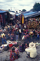 The popular Sunday handicrafts market in Cichicastenango, Guatemala