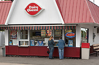 Two customers order at a Dairy Queen outlet in Shawinigan (Qc) June 1, 2009.