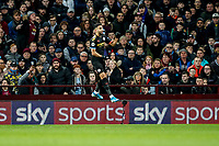 12th January 2020; Villa Park, Birmingham, Midlands, England; English Premier League Football, Aston Villa versus Manchester City; Riyad Mahrez of Manchester City celebrates scoring the 1st goal in the 17th minute for 1-0 - Strictly Editorial Use Only. No use with unauthorized audio, video, data, fixture lists, club/league logos or 'live' services. Online in-match use limited to 120 images, no video emulation. No use in betting, games or single club/league/player publications