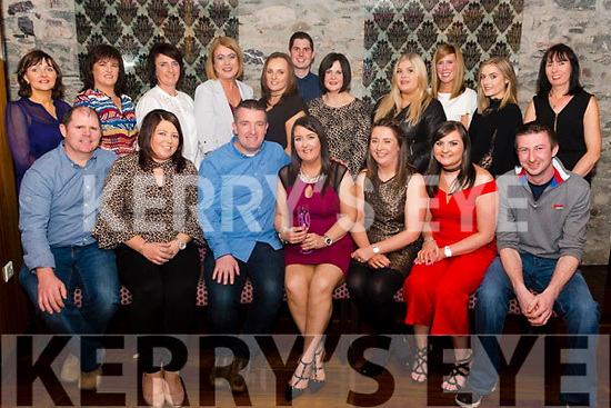 Maeve O'Leary from Rathmore celebrated her 40th birthday surrounded by friends and family in the Ross Hotel, Killarney last Saturday night.
