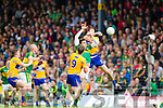 David Moran Kerry in action against Gary Brennan Clare in the Munster Senior Football Championship at Fitzgerald Stadium in Killarney on Sunday.