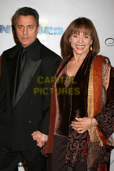 "VALERIE HARPER & GUEST .17th Annual ""Night of 100 Stars"" Oscar Gala at the Beverly Hills Hotel, Beverly Hills, California , USA. .February 25th, 2007.half length black holding hands .CAP/ADM/BP.©Byron Purvis/AdMedia/Capital Pictures"