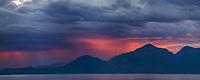 Sunrise over Kluane lake, Yukon Territory, Canada