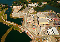 Aerial photography over Charlotte, NC, and the surrounding areas from May 2009. Photos by Charlotte photographer Patrick Schneider Photography. Photo of McGuire Nuclear Power Station on Lake Norman. McGuire, a 2,200 megawatts station that opened in 1981, is the second of three nuclear stations designed and built by Duke Power.