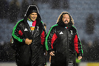 Nick Easter and Adam Jones of Harlequins. European Rugby Challenge Cup semi final, between Harlequins and Grenoble on April 22, 2016 at the Twickenham Stoop in London, England. Photo by: Patrick Khachfe / JMP