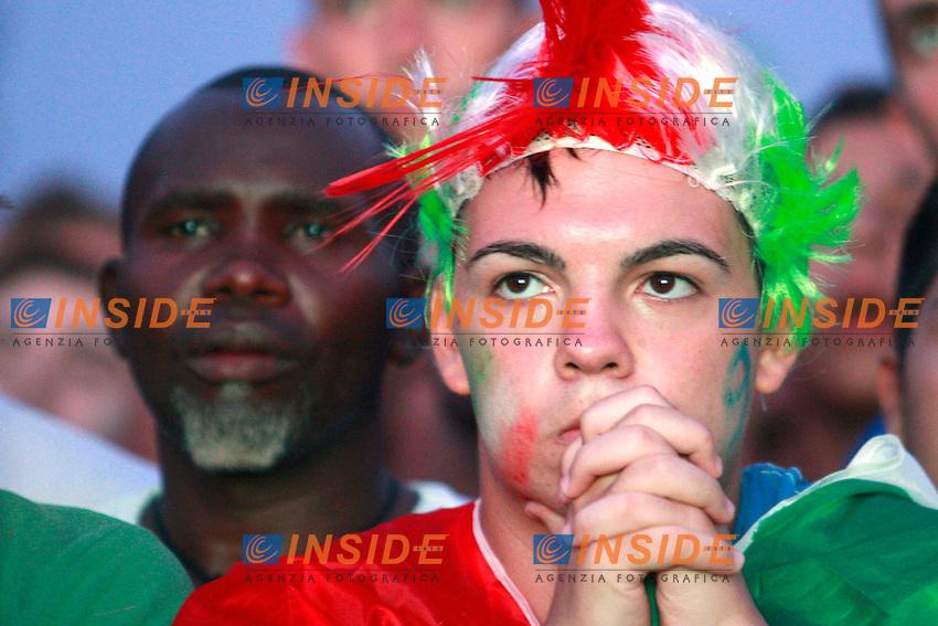 tifosi delusione.Roma 01/07/2012 Euro 2012. Partita finale. Allestiti maxi schermi al Circo Massimo. .Photo Samantha Zucchi Insidefoto