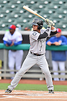 Jackson Generals shortstop Benji Gonzalez (3) awaits a pitch during a game against the Tennessee Smokies at Smokies Stadium on July 5, 2016 in Kodak, Tennessee. The Generals defeated the Smokies 6-4. (Tony Farlow/Four Seam Images)