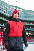David Quinn (BU - Head Coach) - The Boston University Terriers defeated the University of Massachusetts Minutemen 5-3 on Sunday, January 8, 2017, at Fenway Park in Boston, Massachusetts.The Boston University Terriers defeated the University of Massachusetts Minutemen 5-3 on Sunday, January 8, 2017, at Fenway Park.