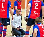Almere - Zaalhockey  SCHC-Victoria (5-7)   .  coach Michiel van der Struijk (SCHC)  . TopsportCentrum Almere.    COPYRIGHT KOEN SUYK