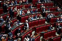Roma, 31 Gennaio 2014<br /> Camera dei Deputati - Voto sulle pregiudiziali di costituzionalità della legge elettorale<br /> Deputati del Movimento 5 Stelle con fazzoletti al polso in attesa del  voto