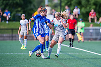 Boston, MA - Saturday June 24, 2017: Julie King and Makenzy Doniak during a regular season National Women's Soccer League (NWSL) match between the Boston Breakers and the North Carolina Courage at Jordan Field.