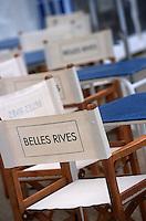 France/06/Alpes Maritimes/Juan-les-Pins: Hotel Belles- Rives détail de la terrasse