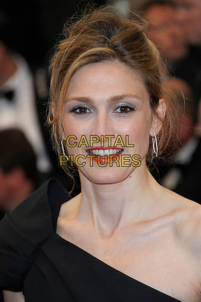 Julie Gayet .'Cosmopolis' screening at the 65th  Cannes Film Festival, France..25th May 2012.headshot portrait black one shoulder .CAP/PL.©Phil Loftus/Capital Pictures