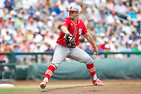 North Carolina State Wolfpack pitcher Carlos Rodon #16 pitches during Game 3 of the 2013 Men's College World Series between the North Carolina State Wolfpack and North Carolina Tar Heels at TD Ameritrade Park on June 16, 2013 in Omaha, Nebraska. The Wolfpack defeated the Tar Heels 8-1. (Brace Hemmelgarn/Four Seam Images)