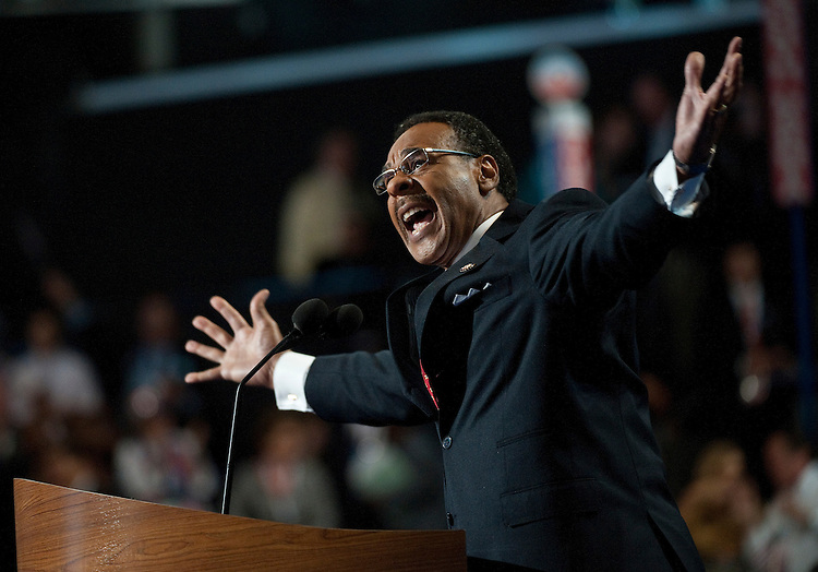 UNITED STATES - September 5: Chairman of the Congressional Black Caucus Emanuel Cleaver, D-MO., at the Democratic National Convention in the Time Warner Cable Arena in Charlotte, North Carolina. The Democratic National Convention is in its 2nd day and runs through September 6th. (Photo By Douglas Graham/CQ Roll Call)