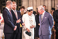 11 March 2019 - London, England - Kate Duchess of Cambridge Catherine Katherine Middleton, Prince William Duke of Cambridge, Prince Harry Duke of Sussex and Meghan Markle Duchess of Sussex with Prince Charles Prince of Wales during a Commonwealth Day Service held at Westminster Abbey. Photo Credit: ALPR/AdMedia