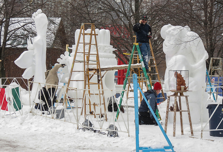 Navy Pier will host the Snow Days Chicago snow sculpting competition Feb. 7-8 at the Streeterville landmark. International teams of snow sculpture will compete by carving their sculptures from 10 foot blocks of man-made snow beginning Wednesday, Feb .4  Eight teams from the United States, Argentina, Germany, Mexico, Ukraine and the United Kingdom will compete for prizes.  http://navypier.com/snow-days-chicago/ (Photo by Jamie Moncrief)