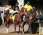 October 06, 2018 : #12 Derby Date and Gabriel Saez in the 105th running of The Claiborne Breeders' Futurity (Grade 1) $500,000 at Keeneland Race Course on October 06, 2018 in Lexington, KY.  Candice Chavez/ESW/CSM