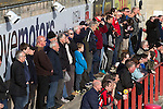 Home fans watching the first-half action as Morecambe hosted Plymouth Argyle in a League 2 fixture at the Globe Arena. The stadium was opened in 2010 and replaced Morecambe's traditional home of Christie Park which had been their home since 1921, the year after their foundation. Plymouth won this fixture by 2-0 watched by 2,081 spectators, in a game delayed by 30 minutes due to traffic congestion affecting travelling Argyle fans.