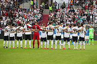 Schweigeminute für den verstrorbenen Leonart Johannsson - 11.06.2019: Deutschland vs. Estland, OPEL Arena Mainz, EM-Qualifikation DISCLAIMER: DFB regulations prohibit any use of photographs as image sequences and/or quasi-video.